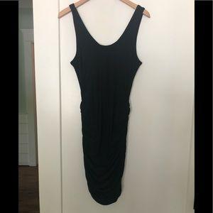 Express ruched mini dress black size small